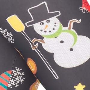 Juniors Black Holiday Cheer Symbols All Over Ugly Tacky Christmas Leggings