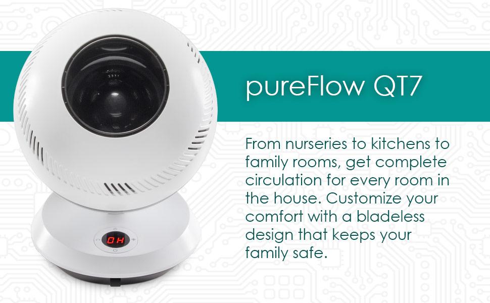pureFlow QT7 Bladeless Fan