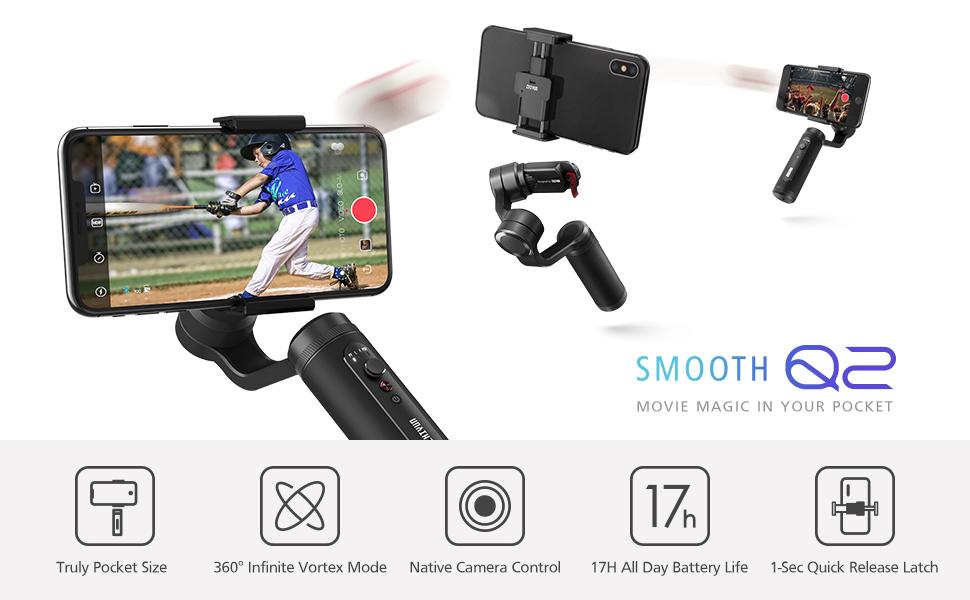 ZHIYUN Smooth Q2 [Oficial] Gimbal Estabilizador para Smartphone ...