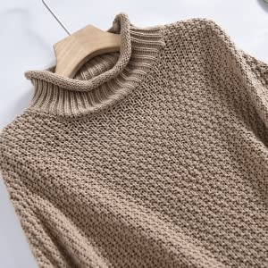Turtleneck Chunky Knit Pullover Oversize Sweater