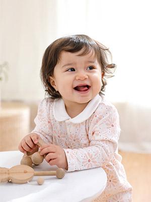Baby girl long sleeve romper 2