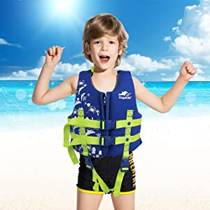 Orange L Jungen M/ädchen Heads-Up Flotation Jacke Auftrieb Badeanzug Bademode f/ür Kinder Schwimmen Lernen Gogokids Schwimmweste f/ür Kinder