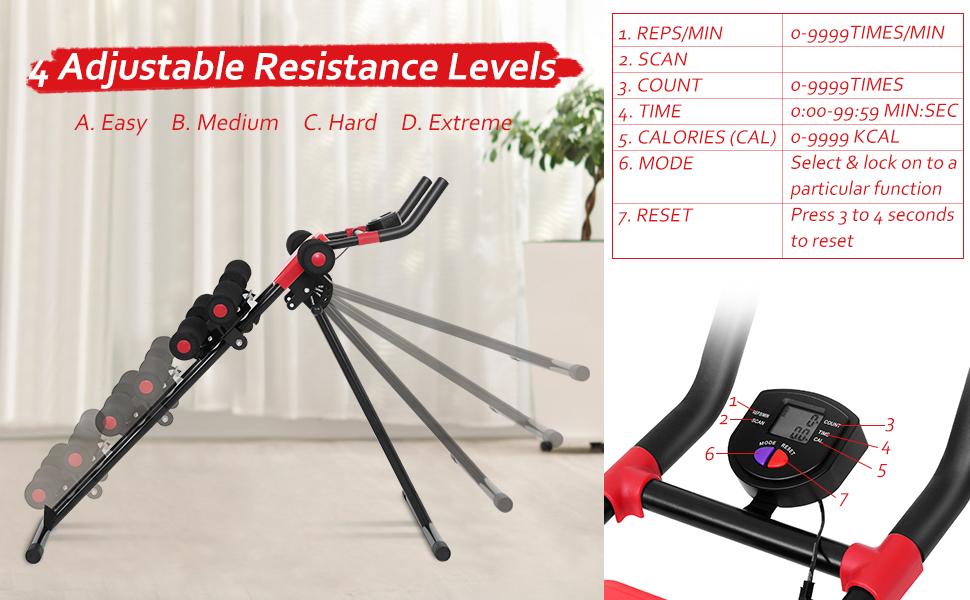 4adjustable resistance level