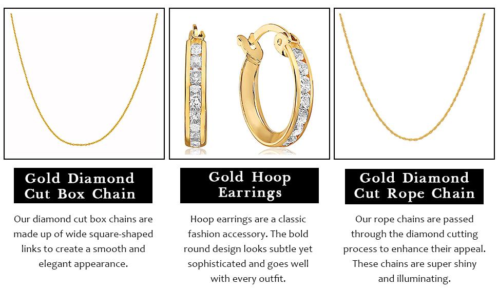 Round ring golden earrings