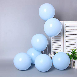 10 inch pastel blue balloons