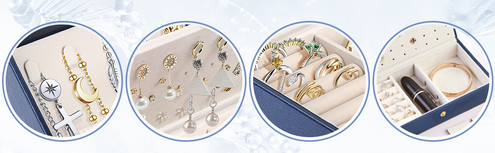jewelry carrying case/ jewelry case for women