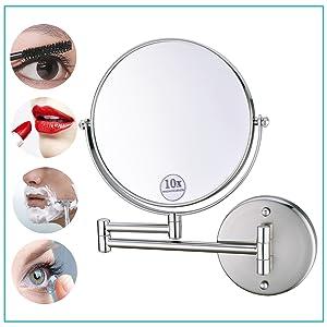 10x wall makeup mirror