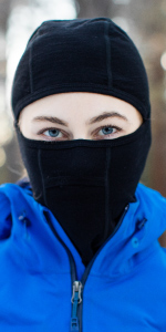 MERIWOOL Balaclava mask is constructed of odor resistant and moisture-wicking materials