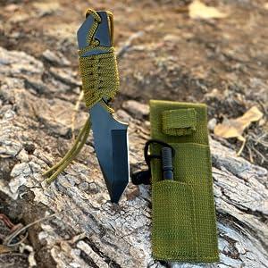 knife sheath mini ferro rod camping