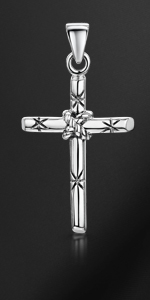 Amberta Unisex 925 Sterling Silver Cross Pendant