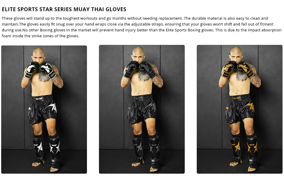 Muay Thai Gloves Action Images