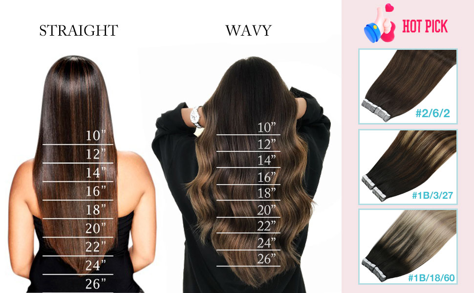 Brown Ombre Remy Tape Real Human Hair