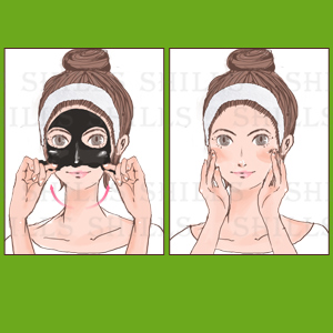 Remove Bottom Up Gentle Mask Face