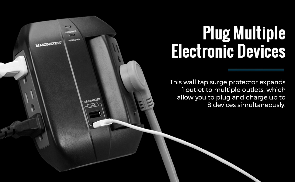 ft grounded heavy home hub large long metal mini multi multiplug plug portable prong wallmount