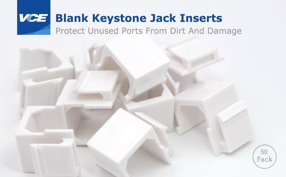 Blank Keystone Jack Inserts
