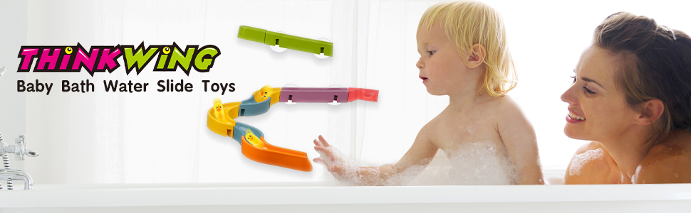 Bath Toys Water Slide Track for Wall Bathtub Toy for Toddlers 3 4 5 6 Years 37 Pcs DIY Track Take Apart Set Shower Gift for Kids