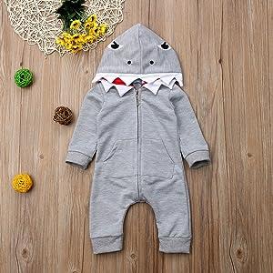 grey shark romper