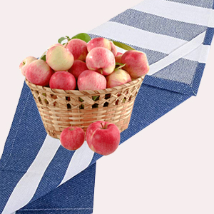 with fruit basket