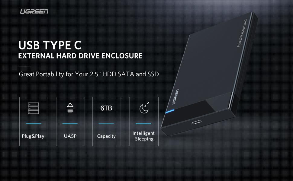 USB C Hard Drive Enclosure