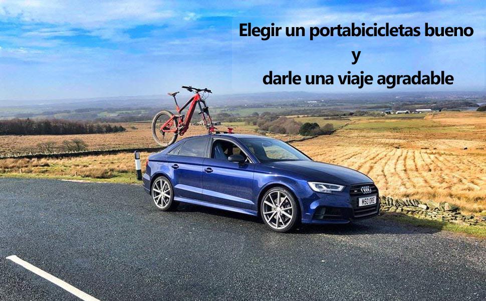 ROCKBROS Baca Portabicicletas de Techo para Bicicleta con Ventosa ...