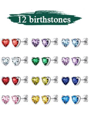 heart stud earring for girls
