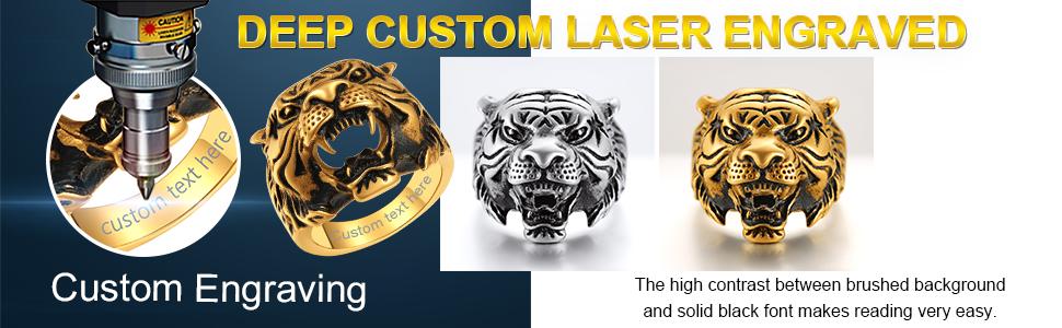 Custom Tiger Rings