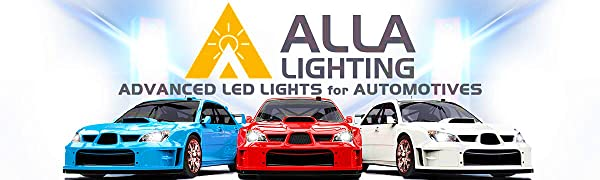 Alla Lighting H8 H11 H16 Auto LED Fog Lights Bulbs Replacement for Cars Trucks