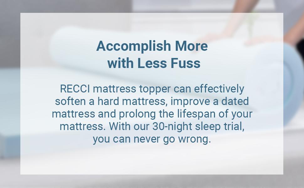 recci gel memory foam mattress topper cheap hard mattress soft mattress topper