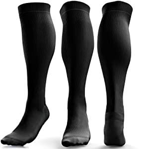 Black Compression Socks With No Logo Branding