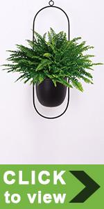 black hanging planters