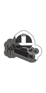 Guantes de trabajo de protección montaje manuales clip agarre recubiertos