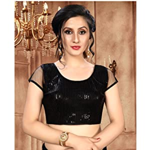 Blouse Readymade for women latest design Sequences for stylish plain, partywear blouse for saree