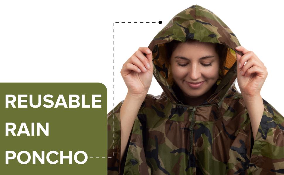 Reusable Waterproof Poncho