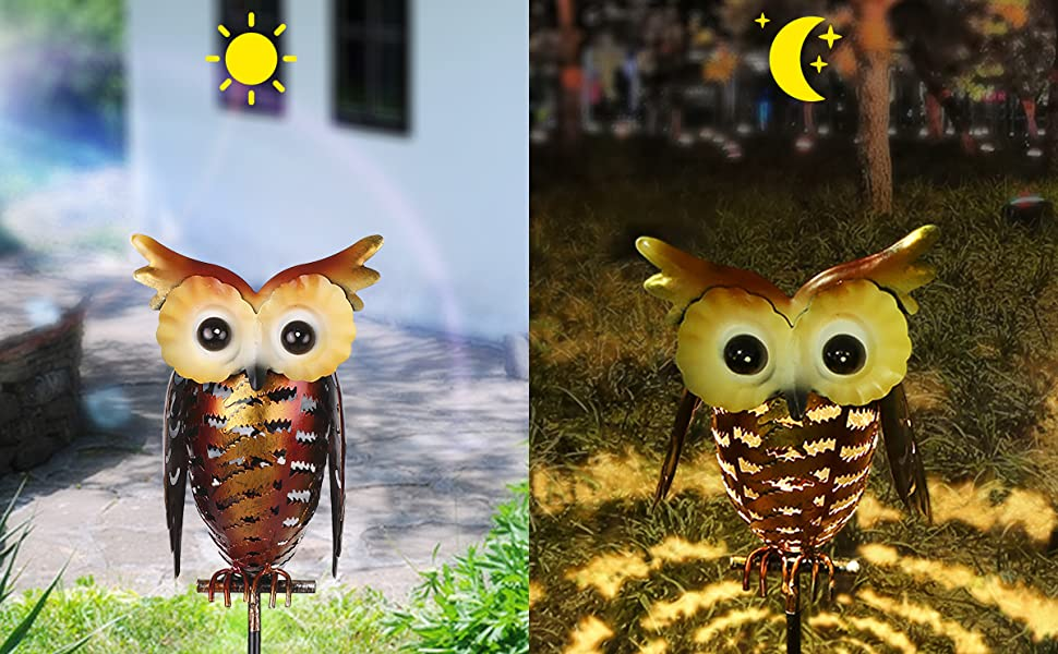 Owl Solar Garden Stake Lights