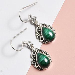 pear dangle drop earrings