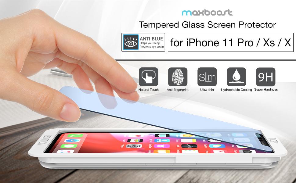 Maxboost iPhone XS Screen Protector