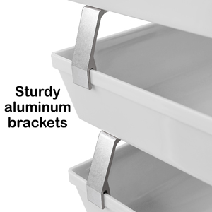 acrimet facility letter tray 3 tier side load white color