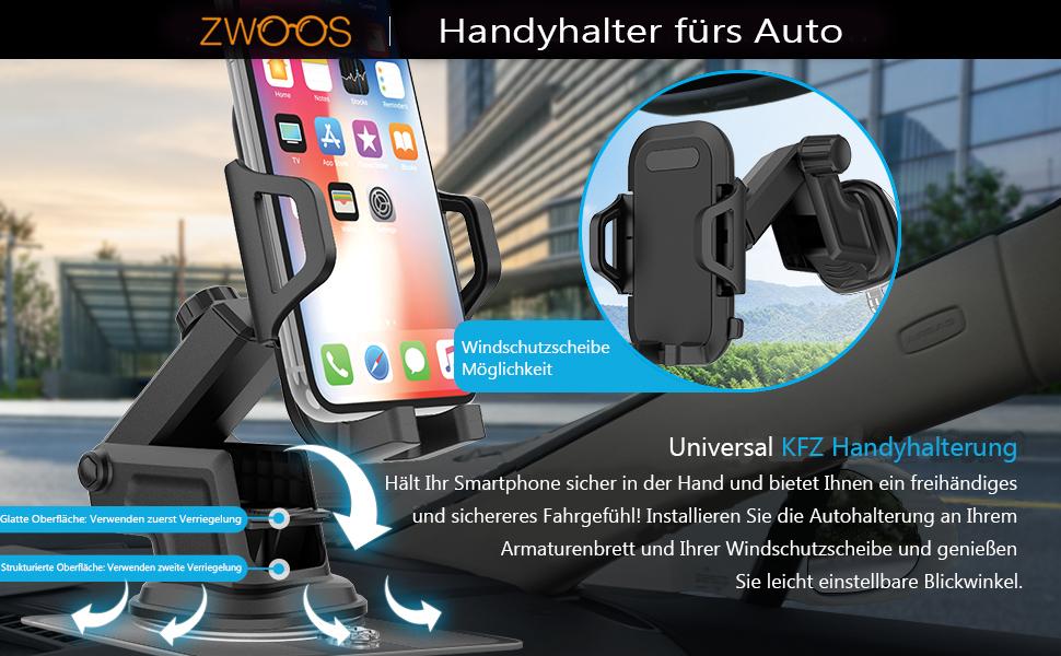 Zwoos Handyhalter Fürs Auto Universal Kfz Elektronik