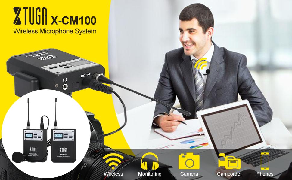 X-CM0100 wireless lavalier microphone