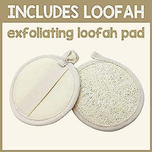 Vanilla Brown Sugar Face and Body Scrub Includes Loofah