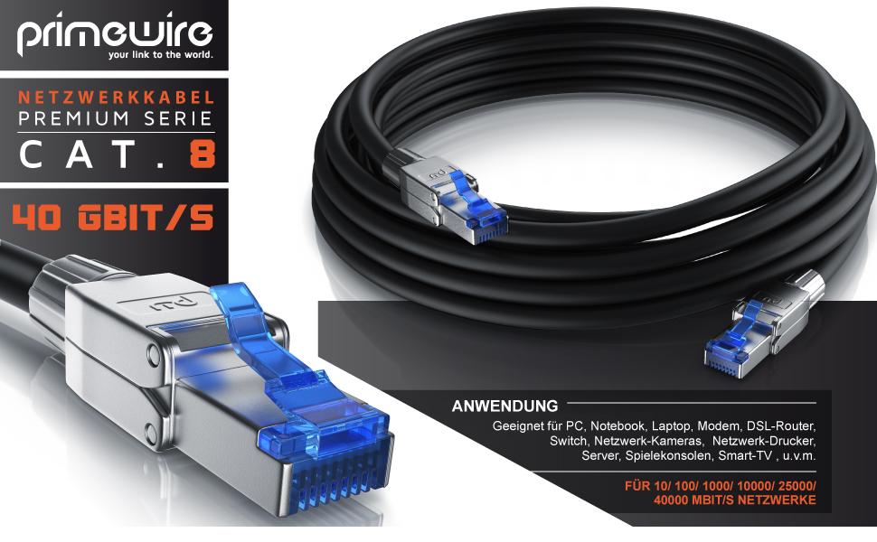 Csl 1m Cat 8 Netzwerkkabel 8 1 Standard Class Elektronik