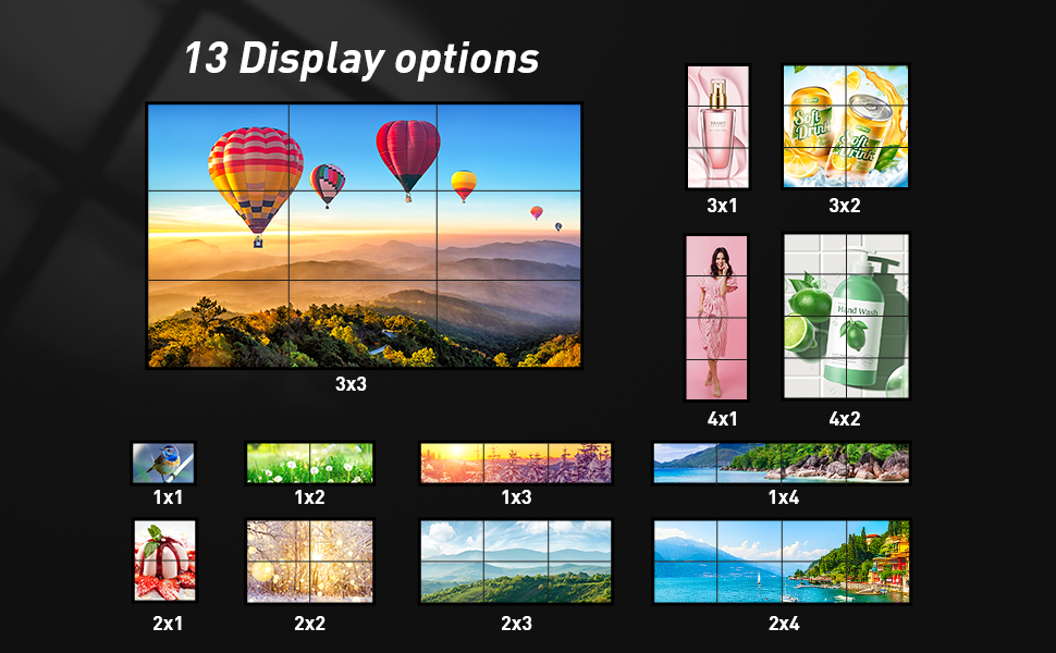 13 displays