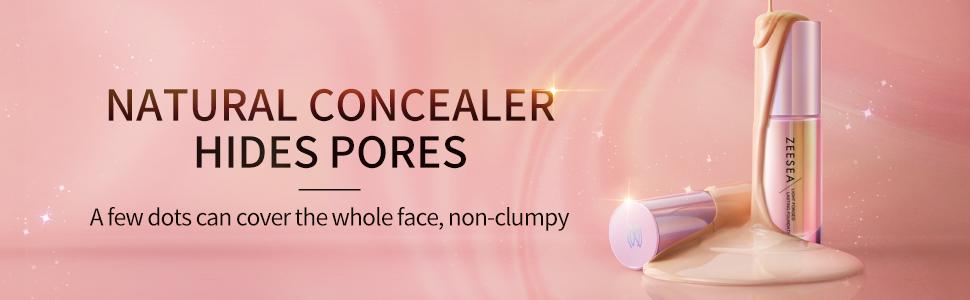 natural concealer hides pores