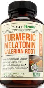 Turmeric Curcumin Melatonin Valerian Root Ginger Cinnamon Black Pepper