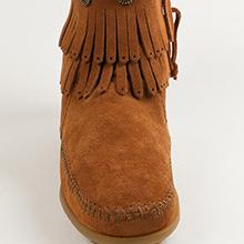 moccasin on padded rubber size slip slipon soft sole suede up western wide width women zip zipper