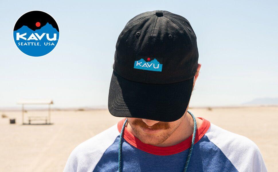 KAVU No Comb Required Adjustable Hat Six Panel Cap