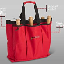 Red Bag Polyester water resistant easy to spot see in foliage