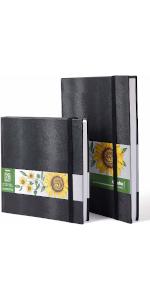 """Marker Pads Art Sketchbooks, 2-pack 8.3""""×8.3""""& 8.3""""×11.7"""", 120 LB/200GSM 78 Sheets/156 Pages"""