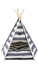 et Teepee Tents Small Dogs Puppy Cat Bed - Washable Puppy Bed & Pet Houses with Comfortable Cushion
