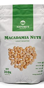 Nature's Morsels Light Roasted Macadamia Nuts
